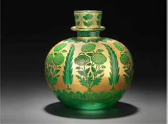 Mughal huqqa glass base,18th c.