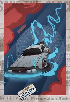 Back to the Future Print by CheshireCatArt on Etsy
