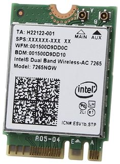 Intel 7265NGW.AC Bluetooth+Wi-Fi-адаптер 1 870 руб. https://market.yandex.ru/product/13192305?nid=55410&track=main_page_endless_snippet