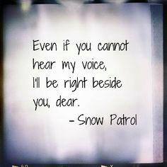 Happiness and Music Rebecca Bains  Snow Patrol - Run Lyrics