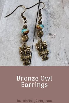 Brown Leaf Earrings Autumn Earrings Fall Jewelry Bronze Glass Earrings Unique Jewelry Nature Gifts for Women Woodland Jewelry Boho Beadwork