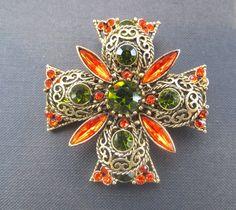 Vintage Emmons Jeweled Filigree Maltese by VintageVogueTreasure, $65.00