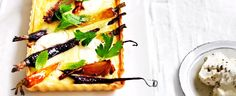 Carrot Tart with Herb Salad recipe, brought to you by MiNDFOOD.