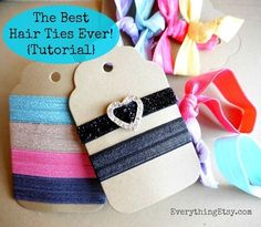 The Best Hair Ties Ever {Tutorial} on EverythingEtsy.com @Everything Etsy