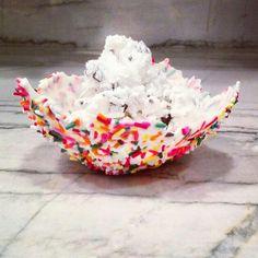 Sprinkle ice cream bowls. #icecream #sprinkles #ilovesummerdesserts