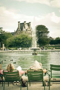 Afternoon in the Tuileries Paris France 8x10 by aroundin80frames, $25.00