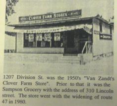 Van Zandts grocery store on Rt 47  corner