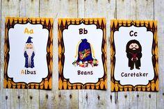 Harry Potter ABC Cards Harry Potter Theme Nursery Room