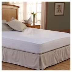Spring Air Bed Armor Mattress Pad - White (
