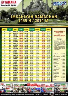 SEMANGAT JUANG '45: JADWAL IMSAKIYAH RAMADHAN 1435 H / 2014 M