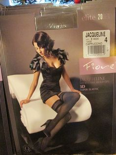 FIORE JACQUELINE 3D HOLD UP THIGH HIGH STOCKINGS