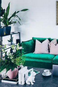 Unsere Neue Wohnzimmer Einrichtung In Grün, Grau Und Rosa! | Green Interior  Design, Interior Inspiration And Apartment Ideas