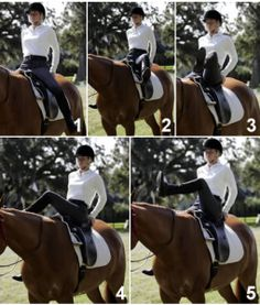 Two Exercises to Improve Your Riding Balance. Boy, this is so true. It really stretches you out and makes balancing more easy.