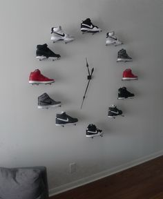 A client with a thing for Nike shoes. So we created a floor to ceiling Nike clock!