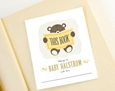 Personalized Bookplates Baby Shower Bookplate // by PeraPress, $9.00
