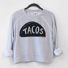 Taco Tuesday Sweatshirt, Velour Tracksuit Women, Crop Top Teen Gift