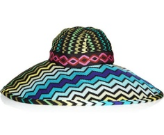 I am passionate about missoni prints and on this hat the fabric looks incredible.