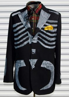 Hey, I found this really awesome Etsy listing at https://www.etsy.com/listing/252434021/42-r-dia-de-los-muertos-mens-blazer