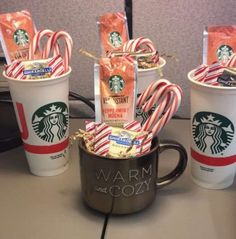 Inexpensive Christmas gifts in a mug
