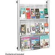 $162  Safco 9-Pocket Luxe Aluminum Magazine Rack, Silver at Staples'