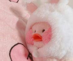 Imagem de bunny, duck, and pink - Plushies Aesthetic Themes, Aesthetic Images, Pink Aesthetic, Duck Wallpaper, Kawaii Plush, Cute Stuffed Animals, Baby Ducks, Cute Memes, Cute Icons