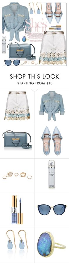 """""""Denim Shirts!"""" by marialibra ❤ liked on Polyvore featuring Hilfiger Collection, River Island, Loewe, Miu Miu, GUESS, Kenneth Cole, Yves Saint Laurent, Michael Kors and Love Is"""
