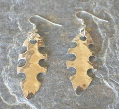 Items similar to Sterling Silver Abstract Textured Hammered Fish Earrings, Dangle on Etsy Long Silver Earrings, Sterling Silver Earrings, Drop Earrings, Dangles, Curvy, Texture, Christmas Ornaments, Abstract, Holiday Decor