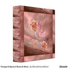 #Orange&Apricot #Roses&Music #SchoolBinder or #PhotoAlbum by #MoonDreamsMusic #BackToSchool