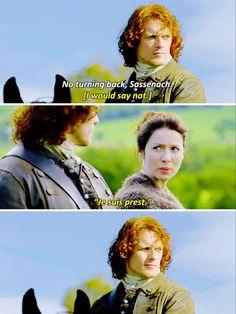 """Je suis prest"" - Claire and Jamie #Outlander"