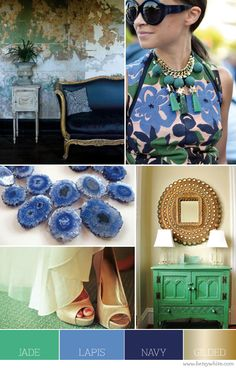 Jade, Lapis, Navy and Gilded