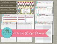 Small Printable Budget Planner Set  Sized by PolkaDotPosiePrint, $5.00