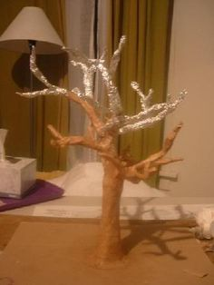 Paper mache tree sculpture - MISCELLANEOUS TOPICS