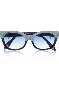 Victoria Beckham Cat eye two-tone acetate sunglasses