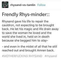 Friendly rhysminder! SPOILER ALERT.