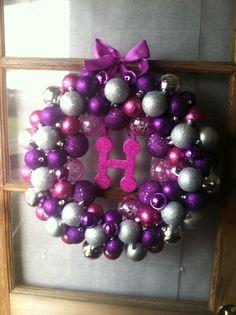 Purple Balls For Decoration Purple  Wreaths  Pinterest  Wreaths Purple Sapphire And Passion