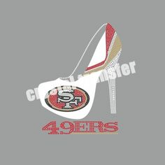 SF 49ers & HIGH Heel Rhinestone Heat Transfers