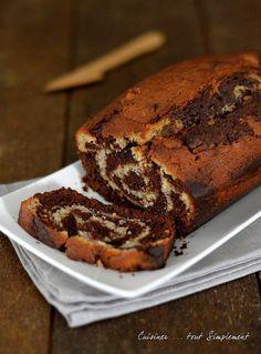 Cake marbré Banane - Chocolat