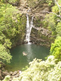 One of the waterfalls on The Road To Hana in Maui 2009