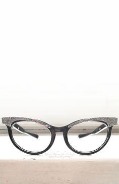 2fa20a85748 50 s American Optical USA Cat Eye Sunglasses Frames Black Aluminum Hornrim  Small Petite Eyeglasses Back Thennish Vintage
