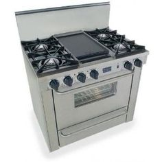 Kitchenaid 174 36 Inch 4 Burner With Griddle Dual Fuel