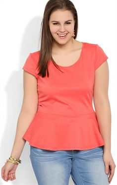 Deb Shops plus size peplum top $12.75