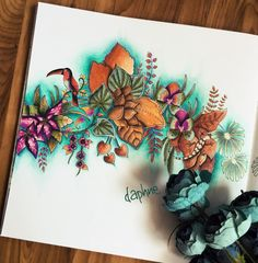 Inspirational Coloring Pages by @daphnesgallery #magicaljungle #selvamagica…