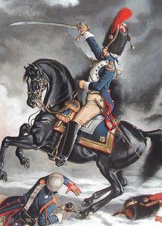 """FRANCE - """"Grenadiers à cheval: soldat et officier 1807-1812"""""""