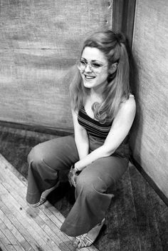 Bernadette Peters during the cast recording session for Dames At Sea in 1969.