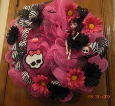 Draculaura Monster High Mesh Wreath
