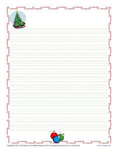 Winter Printable Lined Writing Paper  Winter Writing Paper And