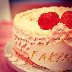 Ombré fresh cream cake