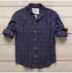Frank & Eileen Classic Button Front Shirt Windowpane - Men's Apparel - Apparel