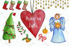 Peace on Earth Clip Art Set by Tati Bordiu on @creativemarket