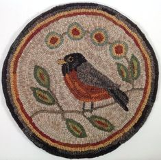 Check out our primitive wool spring selection for the very best in unique or custom, handmade pieces from our shops. Rug Hooking Kits, Rug Hooking Patterns, Locker Hooking, Christmas Rugs, Monks Cloth, Punch Needle Patterns, Hand Hooked Rugs, Chair Pads, Rug Making